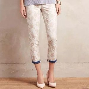 Anthropologie Cartonnier Jacquard Charlie Trouser